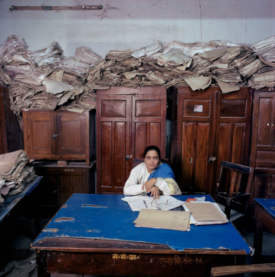 India, bureaucracy, Bihar, 2003. By Jan